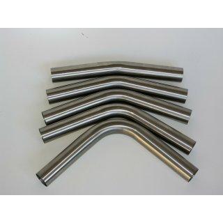 Edelstahl universal Rohrbogen lang Ø70,0mm Rohr 15° - 90° ungeweitet