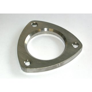 Dreiecksflansch 3-Loch Flansch 10mm Edelstahl - 60mm Rohr Fase Brennring
