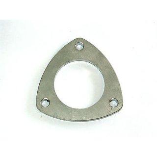 Dreiecksflansch 3-Loch Flansch 10mm Edelstahl V2A für 70mm Rohr
