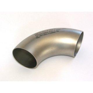 Edelstahl Schweißbogen 63,5 x 1,5mm V2A 90° Rohrbogen Rohrleitung Auspuff Norm 3